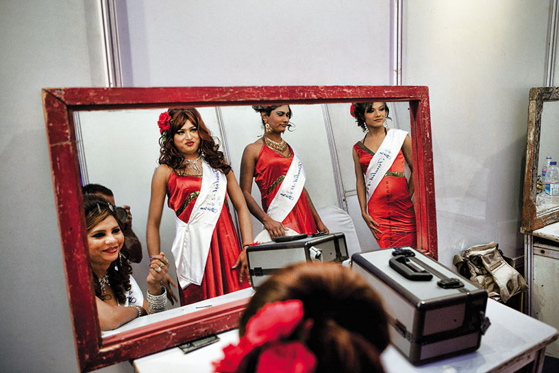 Finalists of India's first transgender beauty contest, 'Super Queen'