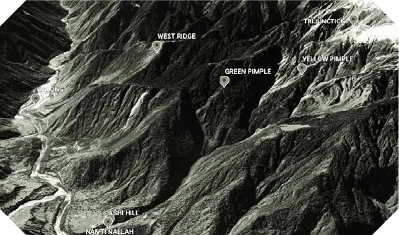 A View from the other side Current day Satellite imagery of the Walong Sector